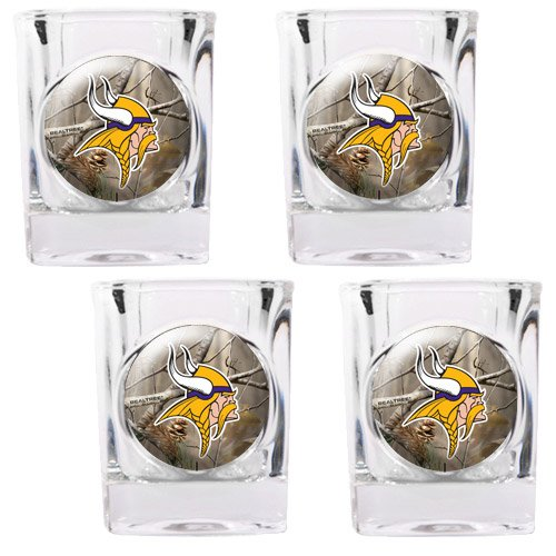 Nfl Minnesota Vikings Open Field Four Piece Square Shot Glass Set front-606786