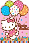 Amscan Hello Kitty Balloon Dreams Die-Cut Invitations 8-Count