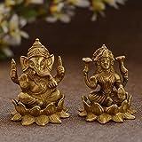 Unravel India Brass Lakshmi ganesh pair