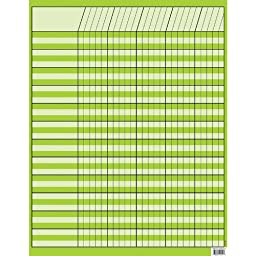 CREATIVE TEACHING PRESS LIME GREEN INCENTIVE CHART (Set of 36)