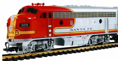 LGB F7A ATSF #329 EMD Powered Diesel Locomotive Warbonnet Scheme G Scale Car