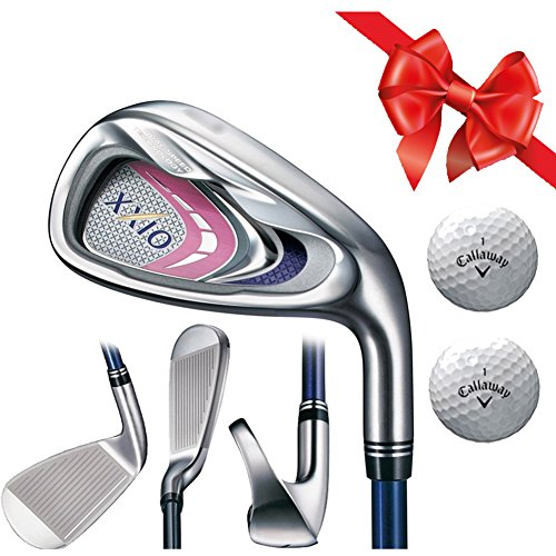 XXIO 9 Lady's MP900 IRON Set Right Hand Graphite (5, 6, 7, 8, 9, P,A, S) 8PC Set with TWO free Gift Balls (Xxio Iron Set compare prices)