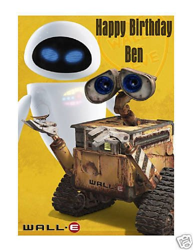 [Wall-E and Eve edible cake image frosting sheet] (Wall E Costume Disney)
