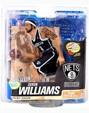 McFarlane Toys NBA Series 22 Action Figure Deron Williams Brooklyn Nets Black Jersey Chase Level Figure