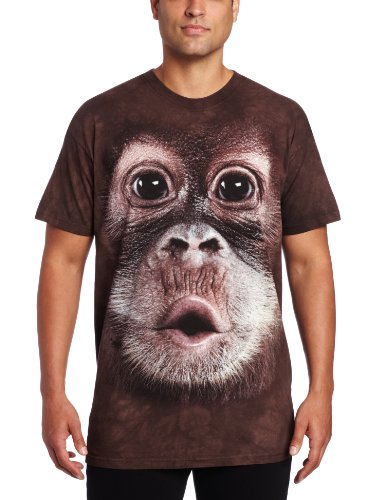 The Mountain Men'S Big Face Baby Orangutan, Brown, Large front-865053