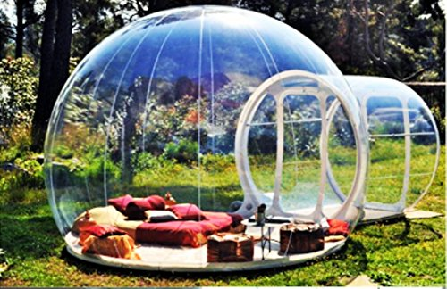 Clear New Millennium Bubble Tent 3-4 person includes inflatable pump and repair...