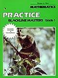 img - for Mathematics Practice Blackline Masters, Grade 1 (Harper & Row Mathematics, 06-545041-8/1) book / textbook / text book
