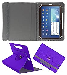 Acm Designer Rotating Case For Smasung Galaxy Tab 3 P5220 Stand Cover Purple
