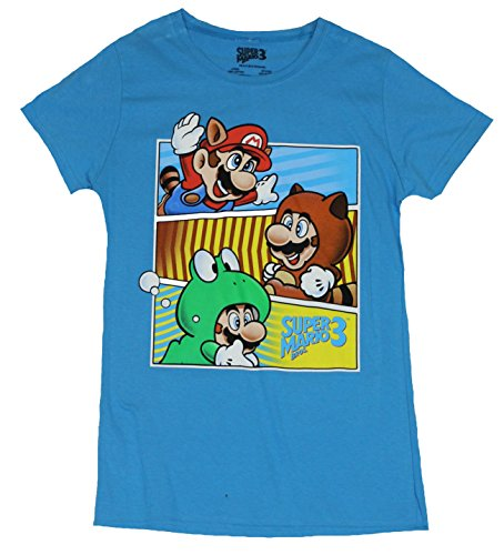 Super Mario 3 Girls Juniors T-Shirt - Mario Costume Bar Images