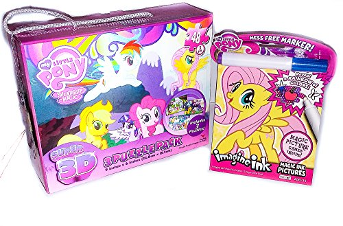 [My Little Pony Friendship is Magic 3D Super 3-48 piece puzzles and Imagine Ink ActivityBook Bundle] (Creepy Mlp Costume)