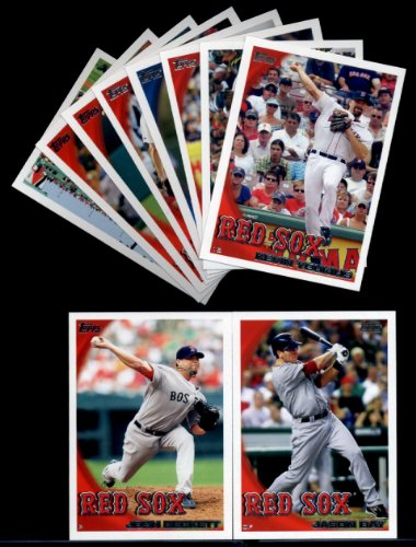 2010 Topps Baseball Cards Complete TEAM SET: Boston Red Sox (Series 1 & 2) 24 Cards Including Papelbon, Pedroia, Ellsbury, Ortiz, Hermida, Beckett,