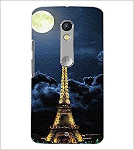 PrintDhaba Tower D-3849 Back Case Cover for MOTOROLA MOTO X PLAY (Multi-Coloured)