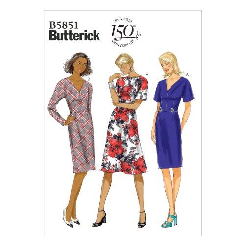 Butterick Patterns B5851 Misses'/Misses' Petite Dress Sewing Template, Size B5