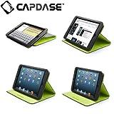 CAPDASE日本正規品 iPad mini 専用 Folder Case Folio Dot, Black / Green 縦置き/横置き 両対応 スタンド機能つき ブックタイプ レザー調ケース フォルダーケース フォリオ・ドット, ブラック/グリーン FCAPIPADM-1016
