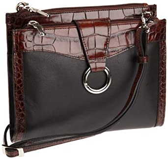 Jack Georges   Purse/Wallet,Black/Brown,One Size