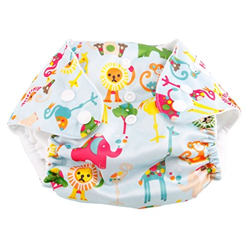 Cloth Diapers ,Nappies - Haqile Animal Pattern Tpu Waterproof And Side-Leakage Preventing Cloth Diaper
