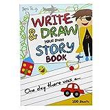 A4 Niños a Escribir y Dibujar Libro de Cuentos - 100 Hojas - Tamaño 297mm x 210mm
