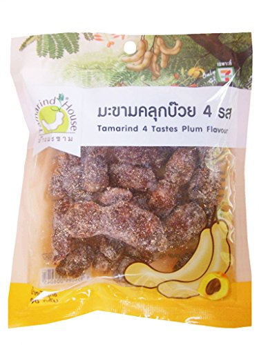 Tamarind Fruit Plum 90 G. Thai Snack Sweet Sour Salt Chili Spicy Tasty Delicious (Pack of 3) (Fruit Chili compare prices)