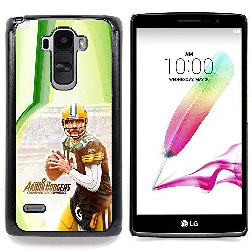 Aaron Rodger 12 NFL Custodia protettiva Progettato rigido in plastica King Case For LG G Stylo / LG LS770 / LG G4 Stylus