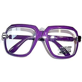 Amazon.com: Oversized Purple Hip Hop Glasses Rapper Run
