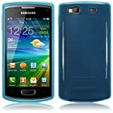 Blue Tpu Gel Case Cover For Samsung Wave 3 S8600 PART OF THE QUBITS ACCESSORIES RANGEby TERRAPIN