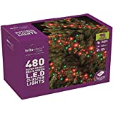 BRITE IDEAS FESTIVE RED GREEN MULTI ACTION LED CLUSTER LIGHTS CHRISTMAS TREE XMAS OUTDOOR INDOOR (480 LED)