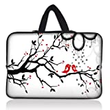 LSS 15.6 inch Laptop Sleeve Bag Carrying Case Pouch with Hidden Handle for 14