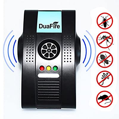 Pest Repeller DuaFire Ultrasonic Pests Repellent with Air Purifier Nightlight Indoor Plug-in Insects Controller for Cockroach Rodent Fly Roach Ant Spider Flea Mouse Rat Mosquito,Safe for Human & Pets