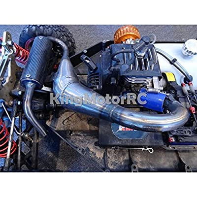 (Ship from USA) NEW King Motor X2 Silenced Exhaust Tuned Pipe Fits LOSI 5IVE T Rovan LT Trucks