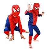 MyMei スパイダーマン 子供衣装 キッズコスチューム なりきり spiderman 変身 マーベル コスプレ 仮装 ハロウィン パーティ イベント (L)