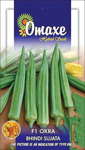 Omaxe Okra F1 Bhindi Sujata – 10 gm seeds pack vegetable seeds