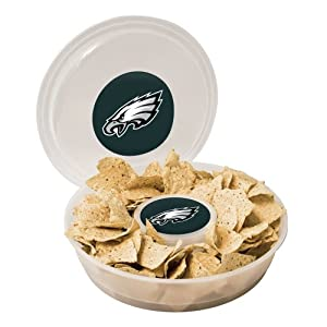 NFL Plastic Chip and Dip Container, Clear