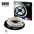 Zitrades 16.4Ft 5050SMD 150LEDS Flexible Color Changing RGB Ribbon Flexible LED Light Strip with red