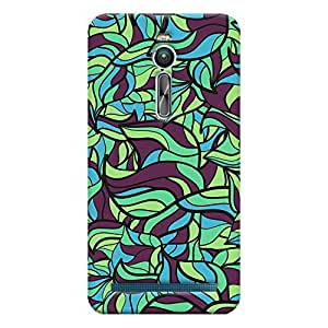ColourCrust Asus Zenfone 2 ZE550ML Mobile Phone Back Cover With Modern Art Pattern Style - Durable Matte Finish Hard Plastic Slim Case