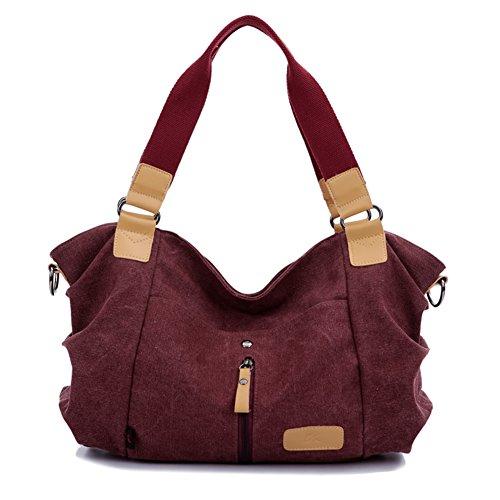 B-B Ladies Leisure Fashion Canvas Handbag Inclined Shoulder Bag