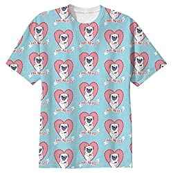 Snoogg Pugs And Kisses Cute Mens Casual All Over Printed T Shirts Tees