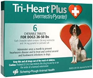 Tri-Heart Plus (Green) - 26-50 lbs - 6 count