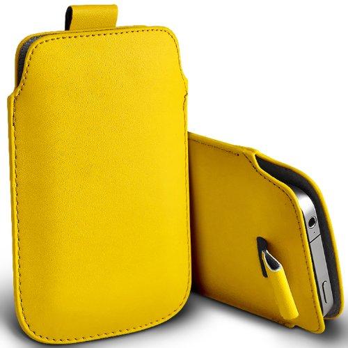 ( Yellow ) T-Mobile Vivacity Schutzkunstleder Pull Tab stilvolle Einbau Beutel-Kasten-Abdeckung Haut durch Spyrox