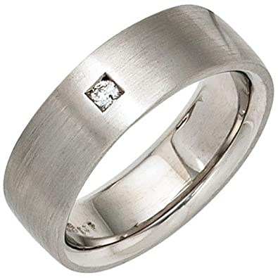 Women's Ring Diamond 925 Silver Matte 24 mm