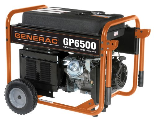 Generac 5946 GP6500 8,000 Watt 389cc OHV Portable Gas Powered Generator (CARB Compliant)