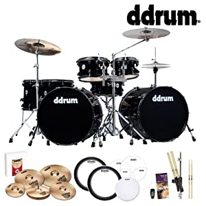 ddrum Journeyman Double Down 7pc Drum Kit (JMDD722) w/ Sabian B8 Cymbals, Shaker, Sticks, Depot, Drum Heads, & Survival Guide