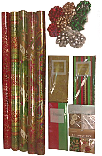Gift Wrap Company Critter Christmas Gift Wrap, Tags And Ribbon Assortment Kit