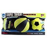 NCAA Triple Threat Mini Football, Basketball Soccer Ball by Wilson