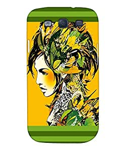 Fuson Pattern Girl Back Case Cover for SAMSUNG GALAXY S3 - D3661
