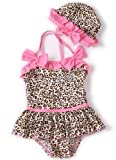 Girls Fashion and Beautiful Leopard Swimwear Bikini Swimsuit SW2