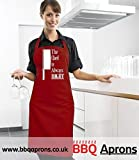 The Chef is always Right Knife Apron,Red Apron,White Print