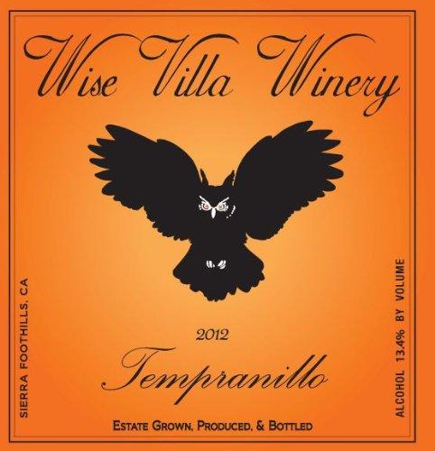2012 Wise Villa Winery Sierra Foothills Tempranillo 750 Ml