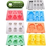 Vibrant Kitchen Set of 7 Ice Cube Molds