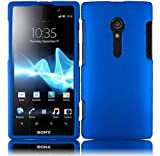 5 Items Combo for Sony Xperia Ion Lt28i (At & T)- Cool Blue with Rubberized Coating Snap on Hard Skin Shell Protector Cover Case + Stylus Pen + Premium Lcd Screen Guard + Microfiber Pouch Bag + Case Opener