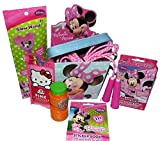 Disney Minnie Mouse Bucket Easter Basket with Minnie Mouse Playing Cards, Glow Wand, Jump Rope, Bubbles, and More